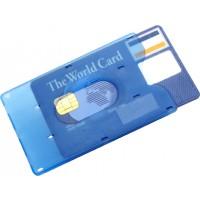 Kreditkartenhalter 'Kredit' aus Kunststoff | Hellblau