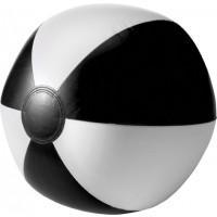Aufblasbarer Wasserball aus PVC | Schwarz/Weiß