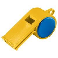 "Trillerpfeife ""Sport"" ohne Kordel | Gelb / Blau"