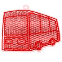 "Reflektor ""Bus""   Transparent-Rot"