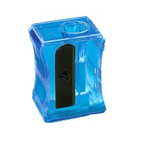 "Bleistiftspitzer ""Maxi"" | Transparent-Blau"
