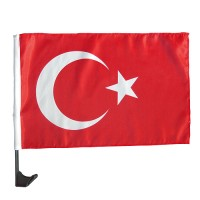 "Autofahne ""Nations - Türkei"" | Rot / Weiß"