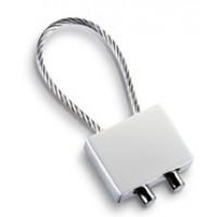 Schlüsselanhänger REFLECTS-CABLE MATT als Werbemittel in Mattsilber, Silber