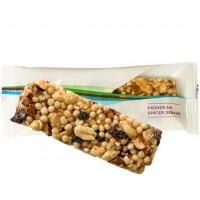 Bio Müsliriegel Cranberry-Mandel, ca. 25g, Express Flowpack mit Etikett