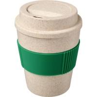 Oka 350 ml Becher aus Weizenstroh | Grün