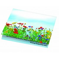 Samen-Klappkärtchen Blumenstrauß, 90 x 60 mm