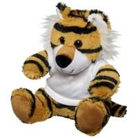 Kuscheltier Tiger mit T-Shirt | Weiß