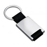 Schlüsselanhänger REFLECTS-ALICANTE SILVER als Werbemittel in Silber