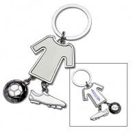 Schlüsselanhänger REFLECTS-BARUTA als Werbemittel in Silber