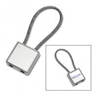 Schlüsselanhänger REFLECTS-CANCUN als Werbemittel in Silber