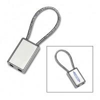 Schlüsselanhänger REFLECTS-CANILLO als Werbemittel in Silber