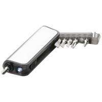 Reno Mini Werkzeug mit Taschenlampe | Silber