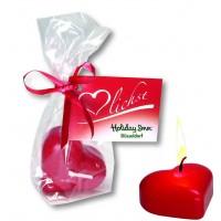 Herz Kerze 60 x 40 mm