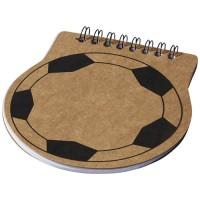 Score Notizbuch in Fußballform | Braun