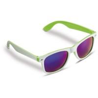 Sonnenbrille Jeffrey 400UV Weiß  | Hellgrün