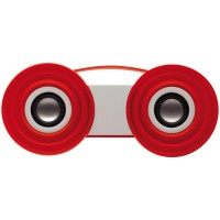 Stereo Sprecher Pop | Weiß / Rot