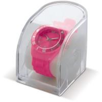 Moderne Silikon Uhr | Dunkelrosé