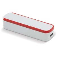 Powerbank Slide-n-Charge 2200mAh | Weiß / Rot