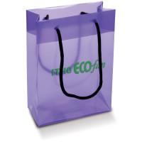 Große Kunststofftasche | Transparent Violett