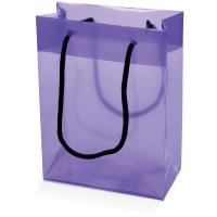 Mittlere Kunststofftasche | Transparent Violett