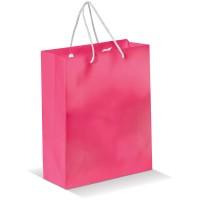 Laminierte Papiertasche, mittel | Rosa
