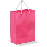 Laminierte Papiertasche, groß | Rosa