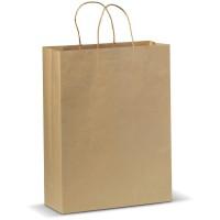 Große Papiertasche im Eco Look | Hellbraun