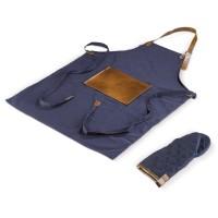 BBQ-Schürze und -handschuh | Dunkelblau