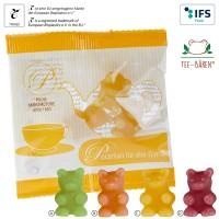 Tee-Bären® in kompostierbarem Werbetütchen