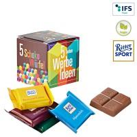 Mini Promo-Würfel mit Ritter Sport QUADRETTIES | 4-farbig