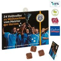 Fußball-Schoko-Adventskalender BUSINESS | 4-farbig