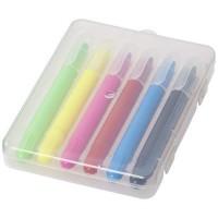 Phiz 6 ausziehbare Farbstifte in Kunststoffbox