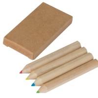 Set bestehend aus 4 Holzbuntstiften