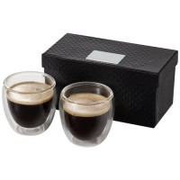 Boda 2 teiliges Espresso Set | Transparent/Klar