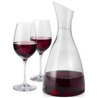 Prestige Dekanter mit 2 Weingläsern | Transparent/Klar