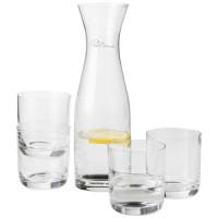 Prestige Karaffe mit 4 Gläsern   Transparent