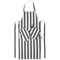 3 teiliges Küchen Set | Schwarz