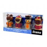 Schokoladenfiguren im Acryl-Träger Mini X-MAS Crew