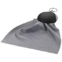 Schlüsselanhänger mit Reinigungstuch | Schwarz