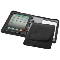 iPad Hülle mit A5 Notizbuch | Schwarz