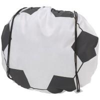 Sportbeutel in Fußballball Optik | Weiß