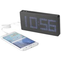 PB 8000 LED Display Powerbank mit Uhr | Schwarz