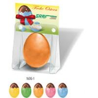Nougat Ei in Blisterpackung mit Kärtchen