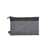 Reißverschluss-Tasche ELEGANCE | Schwarz-Grau Meliert