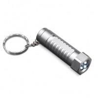 LED Schlüsselanhänger FRAMERIES als Werbemittel in silber