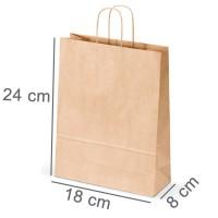 Kraftpapiertasche PLUS 18 x 24 x 8 cm
