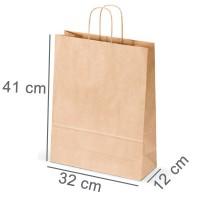 Kraftpapiertasche PLUS 32 x 41 x 12 cm