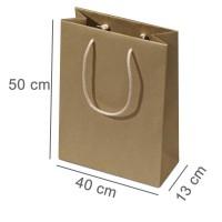 Öko-Kraftpapiertasche ECO 50 x 13 x 40 cm