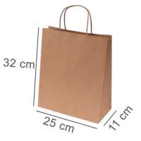Kraftpapiertasche BUDGET TWO | 25 x 11 x 32 cm