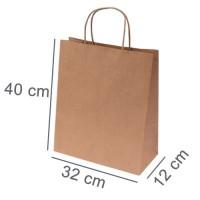 Kraftpapiertasche BUDGET THREE | 32 x 12 x 40 cm